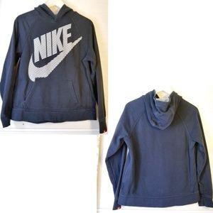 Nike | striped Raised Logo Pullover Hoodie